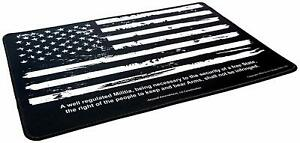 Ultimate Rifle Build Distressed Flag Gun Cleaning Mat